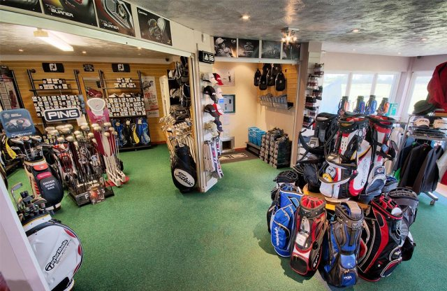 Example pro shop layout